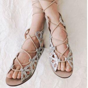 Zara Roman Lace-Up Sandals
